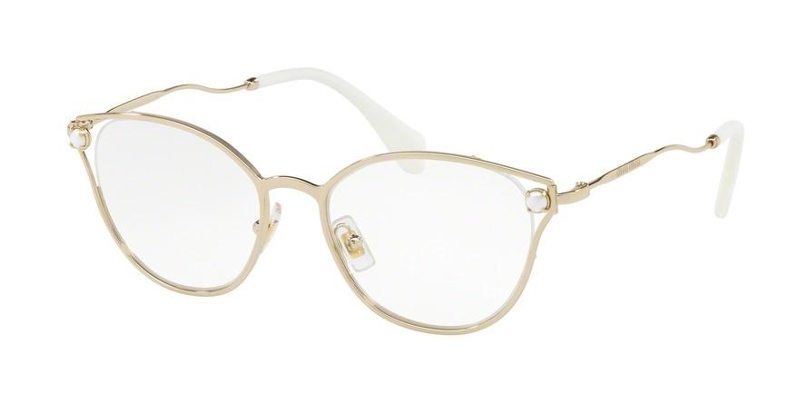 Os oculos Miu Miu VMU53Q fazem parte da Colecao Pearl, caracterizada pelas  aplicacoes de perolas em seu frontal A peca com armacao bordo garante um  visual ... 7a273546cd
