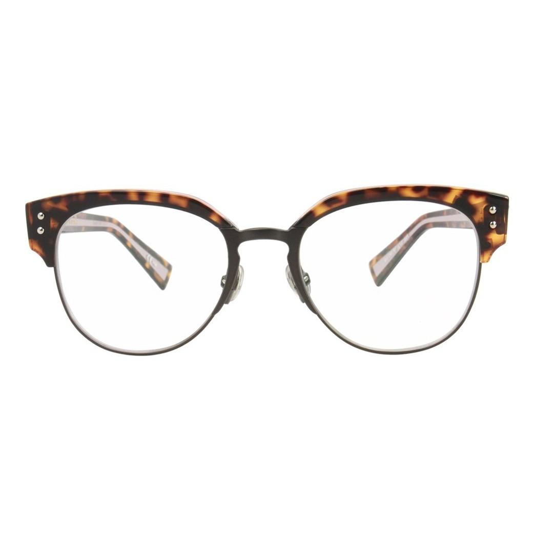 b4862050c14 O oculos de grau Dior Exquiseo2 tem armacao confeccionada em titânio na cor  havana com acabamento rosa Comercializamos online somente a armacao