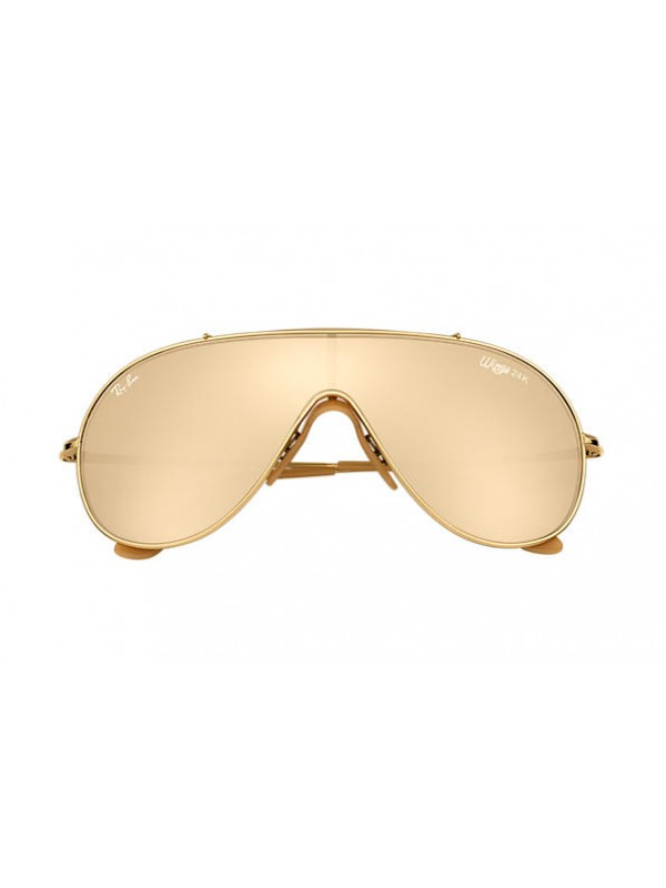 Ray Ban Wings Gold 3597K 909333 - Oculos de Sol b716cc1d2e