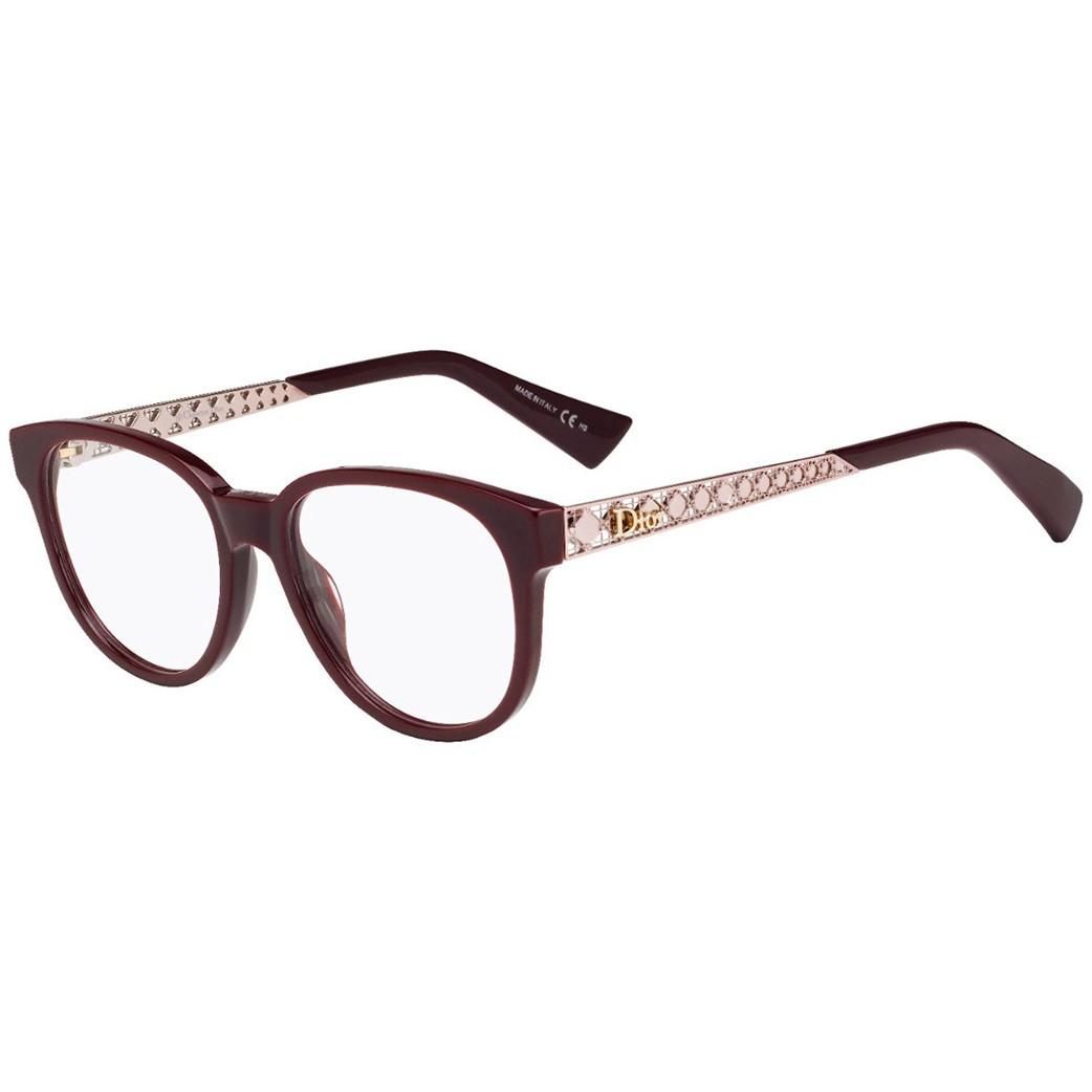 Os oculos de grau Dior Ama O2 tem formato oval e se caracterizam por sua  elegância e leveza Sua face e composta por uma superposicao de uma camada  de metal ... 3480cad64b