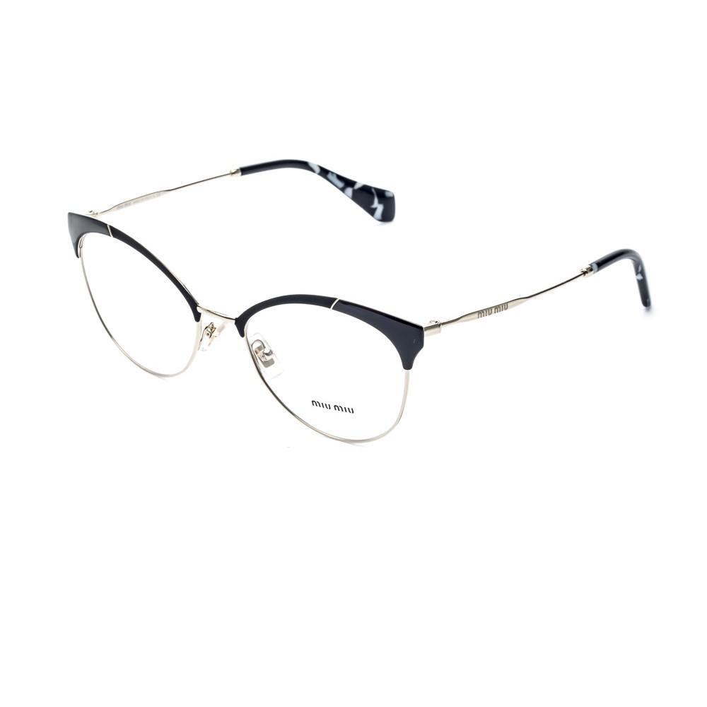 Armacao para oculos da sofisticada grife Miu Miu Modelo produzido em metal  dourado, com o frontal e ponteiras confeccionadas no mais alto padrao de ... 5b30854a89